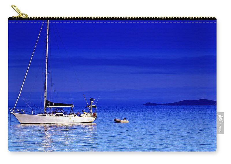 Transportation. Boats Carry-all Pouch featuring the photograph Serene Seas by Holly Kempe
