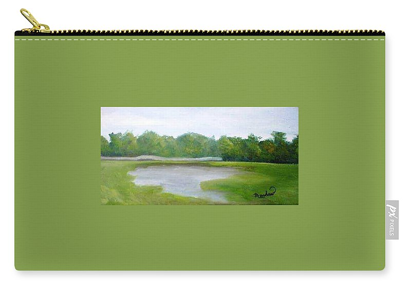 Landscape Carry-all Pouch featuring the painting Serene Vista by Sheila Mashaw