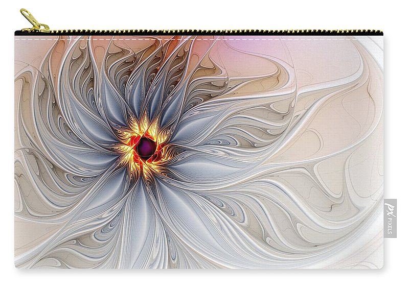 Digital Art Carry-all Pouch featuring the digital art Serenely Blue by Amanda Moore