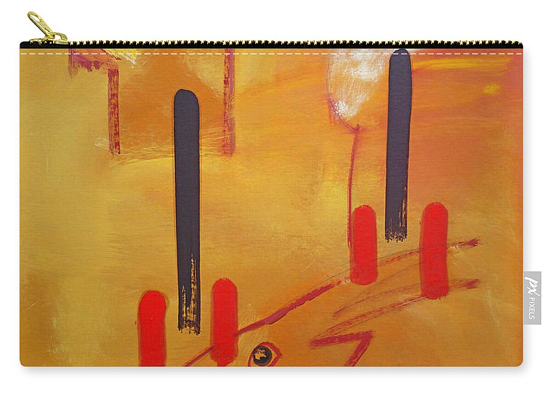 Lion Carry-all Pouch featuring the painting Serengeti by Charles Stuart