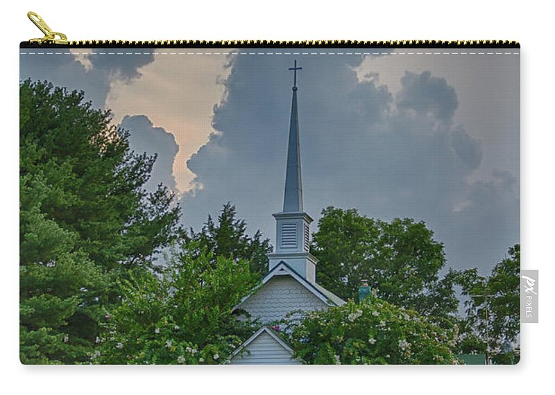 Church Carry-all Pouch featuring the photograph Serenity And Turmoil by Guy Shultz