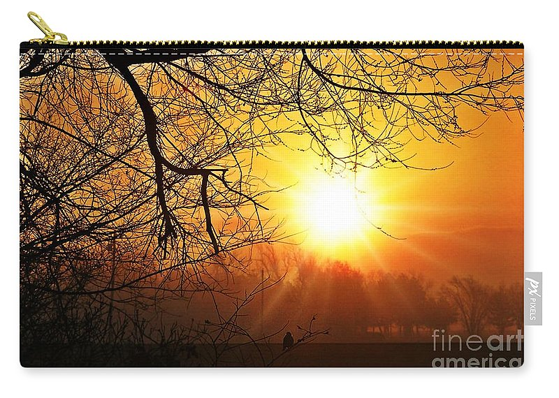 Kansas Carry-all Pouch featuring the photograph Serenity Dawns by Concolleen's Visions Smith