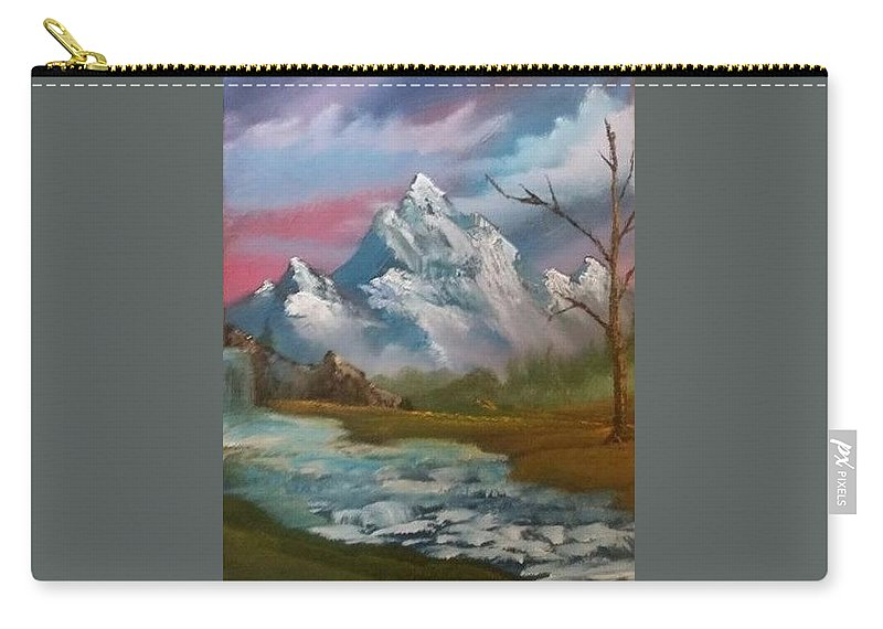 Mountain Carry-all Pouch featuring the painting Serenity In Pastel by Michael Signorelli