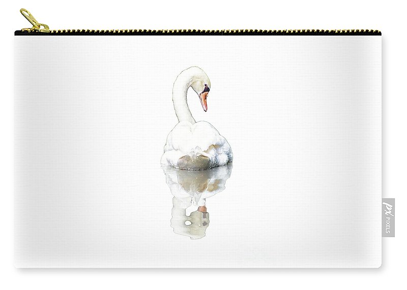 Swan Carry-all Pouch featuring the photograph Serenity by Joshua Roberts
