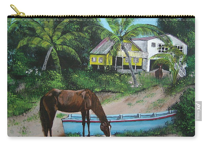 Aguadilla Carry-all Pouch featuring the painting Serenity by Luis F Rodriguez