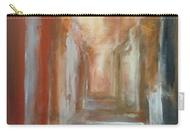 Abstract Carry-all Pouch featuring the painting Serenity by Rome Matikonyte