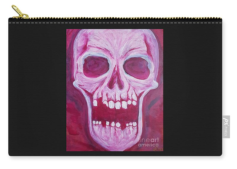 Expressionist Carry-all Pouch featuring the painting Serious.. by Luke Lord