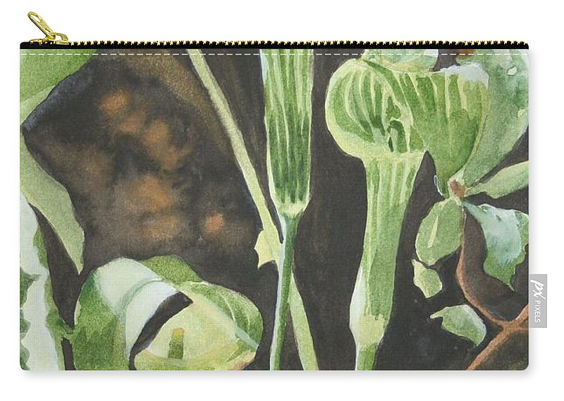 Woods Carry-all Pouch featuring the painting Sermon In The Woods by Jean Blackmer