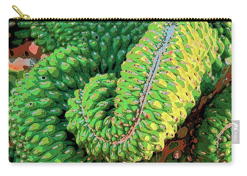 Cactus Carry-all Pouch featuring the mixed media Serpentine by Dominic Piperata