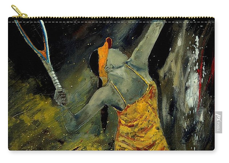 Sports Carry-all Pouch featuring the painting Service by Pol Ledent