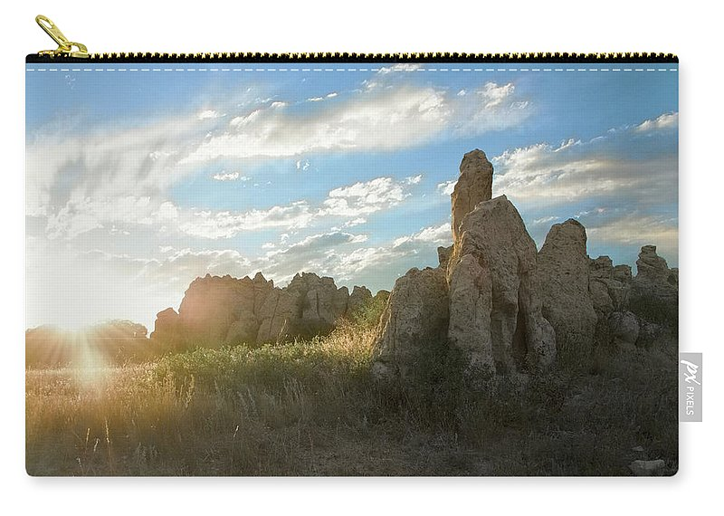Photographs Framed Carry-all Pouch featuring the photograph Set by Doug Johnston