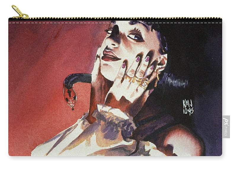Women Carry-all Pouch featuring the painting Set by Ken Meyer jr
