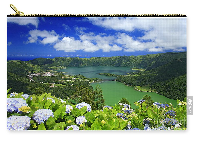 Sete Cidades Carry-all Pouch featuring the photograph Sete Cidades Crater by Gaspar Avila