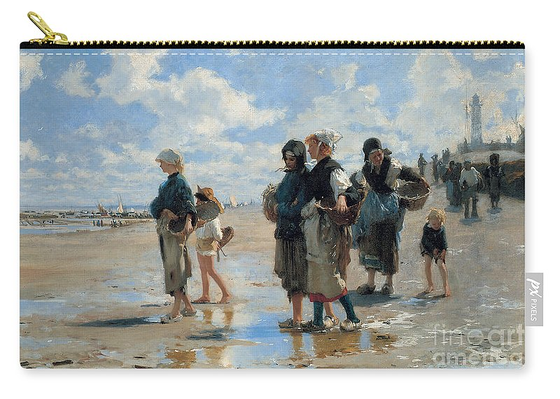 Sargent Carry-all Pouch featuring the painting Setting Out To Fish by John Singer Sargent