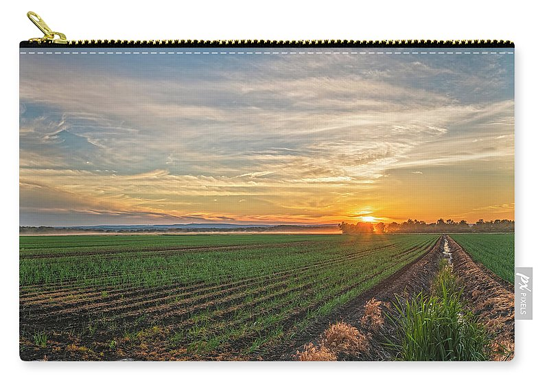 Pine Island Carry-all Pouch featuring the photograph Setting Sun Of Pine Island by Angelo Marcialis Melody Of Light Photography