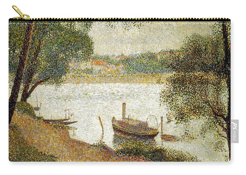 19th Century Carry-all Pouch featuring the photograph Seurat: Gray Weather by Granger