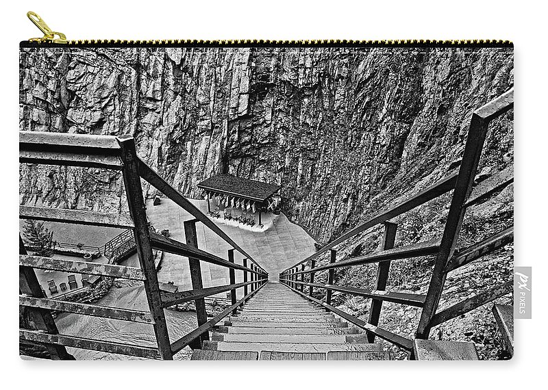 Seven Falls Carry-all Pouch featuring the photograph Seven Falls Pastoral Study 1 by Robert Meyers-Lussier