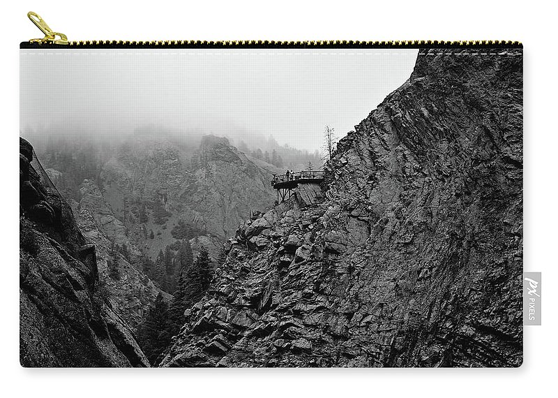 Seven Falls Carry-all Pouch featuring the photograph Seven Falls Pastoral Study 3 by Robert Meyers-Lussier