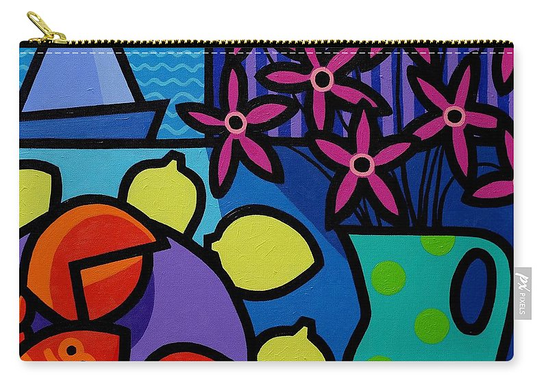 Restaurant Carry-all Pouch featuring the painting Seven Lemons by John Nolan
