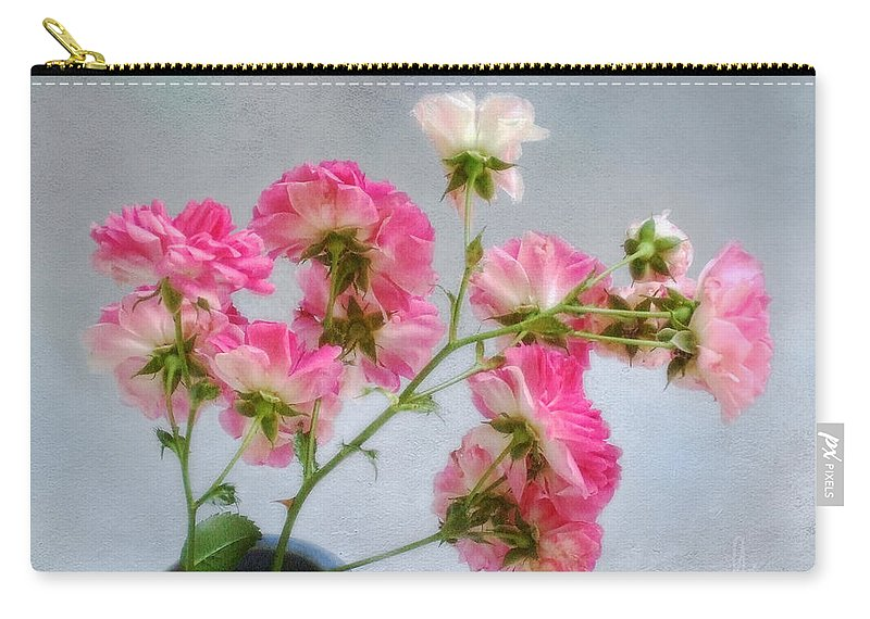 Roses Carry-all Pouch featuring the photograph Seven Sisters Roses by Louise Kumpf