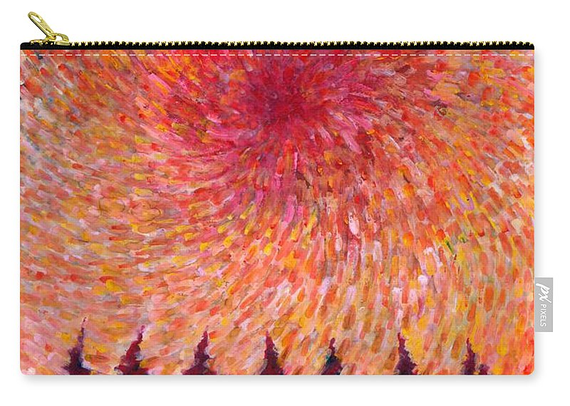 Colour Carry-all Pouch featuring the painting Seven Wishes by Wojtek Kowalski