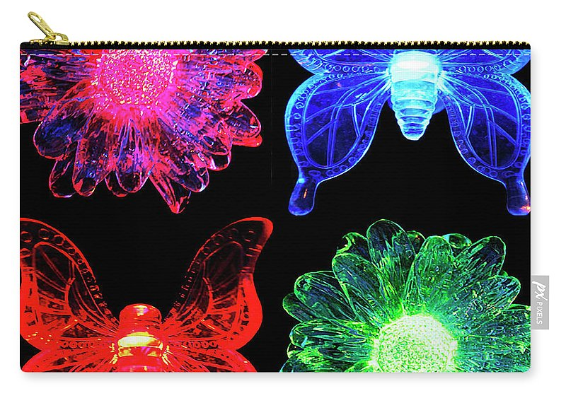 Seventies Carry-all Pouch featuring the digital art Seventies Flash Back by DigiArt Diaries by Vicky B Fuller