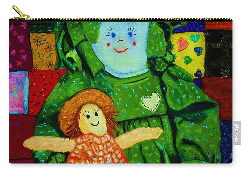 Dolls Carry-all Pouch featuring the print Sew Sweet by Melinda Etzold