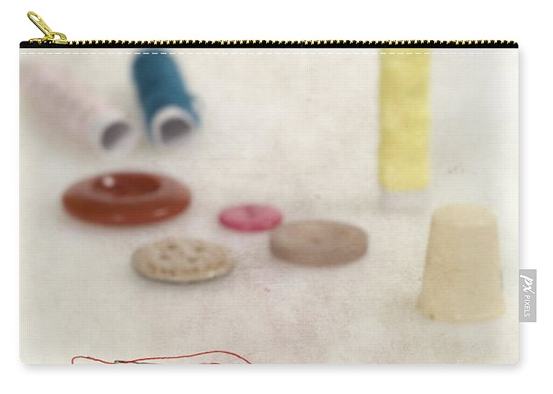 Needle Carry-all Pouch featuring the photograph Sewing Supplies by Joana Kruse