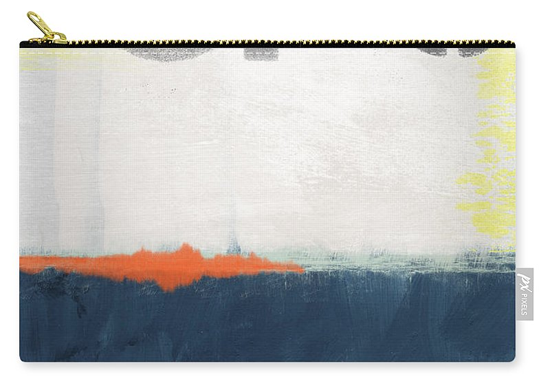Sfo Carry-all Pouch featuring the painting Sfo- Abstract Art by Linda Woods