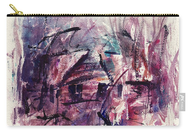 Shack Carry-all Pouch featuring the painting Shack First Movement by Rachel Christine Nowicki