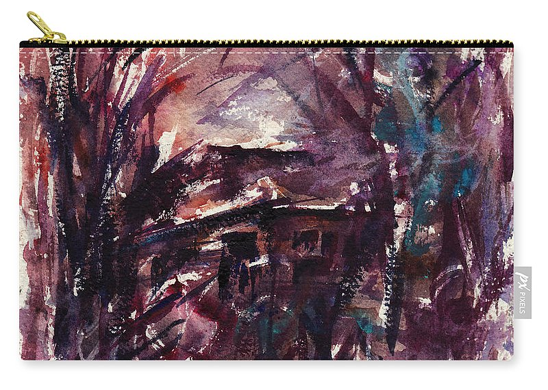 Shack Carry-all Pouch featuring the painting Shack Second Movement by Rachel Christine Nowicki
