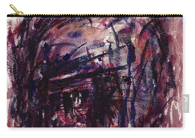 Shack Carry-all Pouch featuring the painting Shack Third Movement by Rachel Christine Nowicki