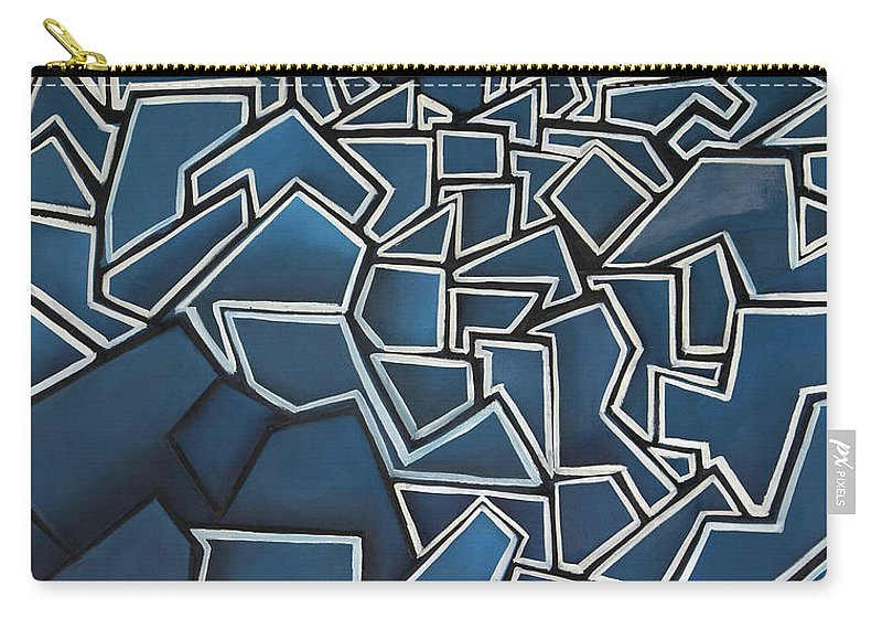 Abstract Carry-all Pouch featuring the painting Shadderd Space by Thomas Valentine