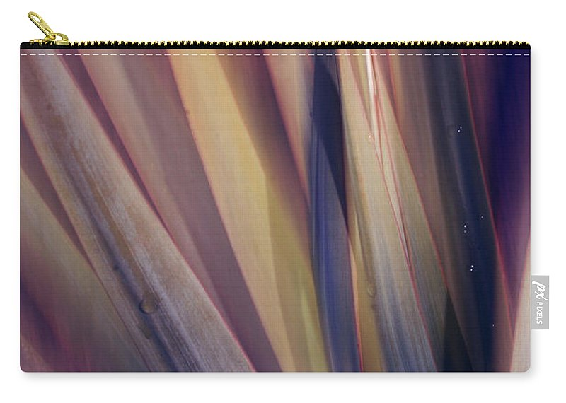 Plant Abstract Nature Blur Colors Pink Blue Yellow Geen Carry-all Pouch featuring the photograph Shade Of Color by Linda Sannuti