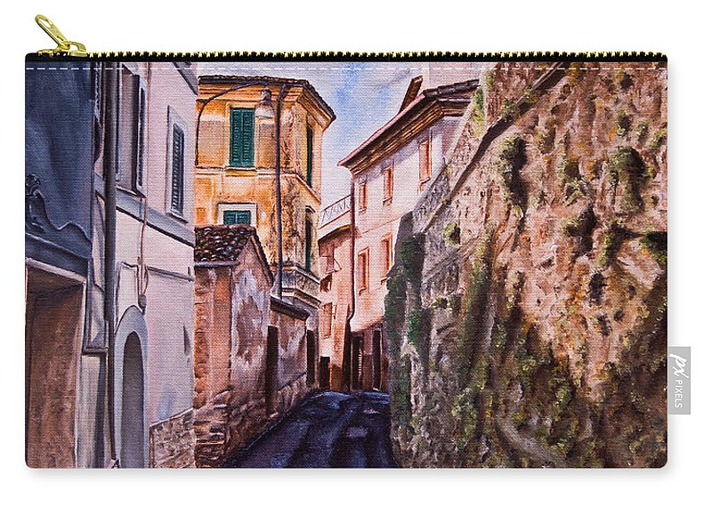 History Carry-all Pouch featuring the painting Shaded Street by Michel Angelo Rossi