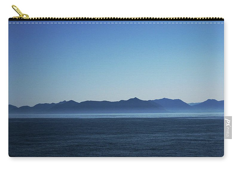 Waterscape Carry-all Pouch featuring the photograph Shades Of Blue by Lori Tambakis