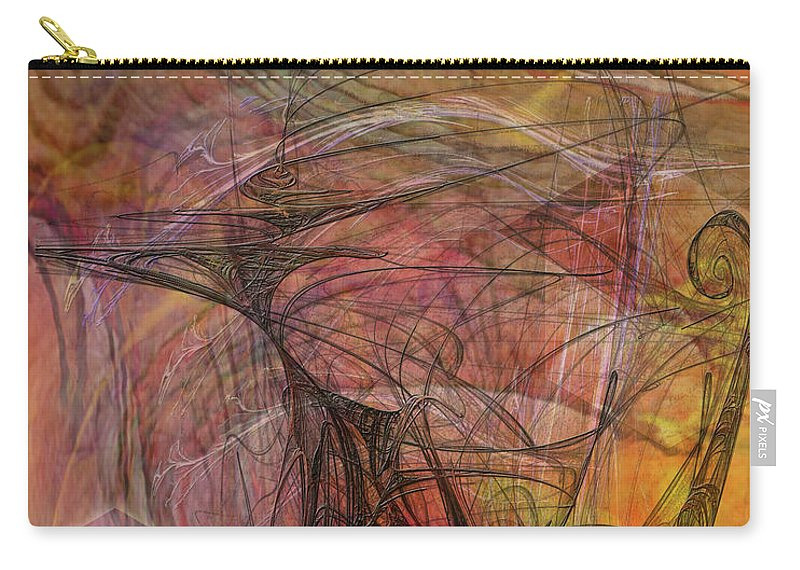 Shadow Dragon Carry-all Pouch featuring the digital art Shadow Dragon by John Beck