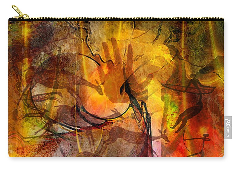 Shadow Hunters Carry-all Pouch featuring the digital art Shadow Hunters by John Beck