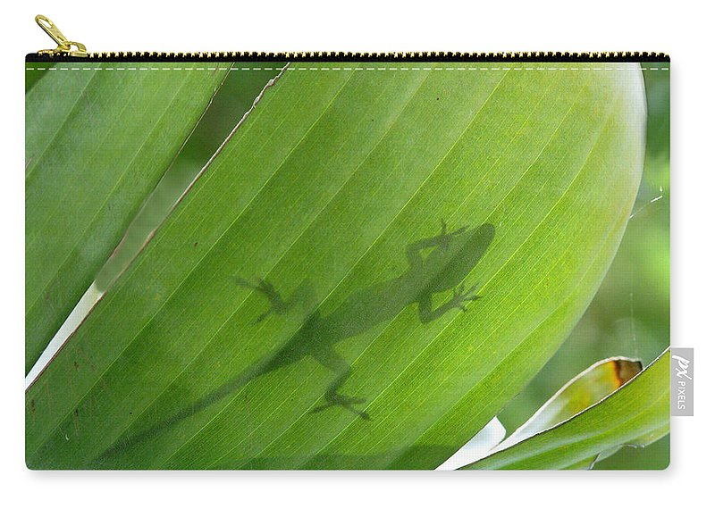 Nature Carry-all Pouch featuring the photograph Shadow Lizard by Peg Urban