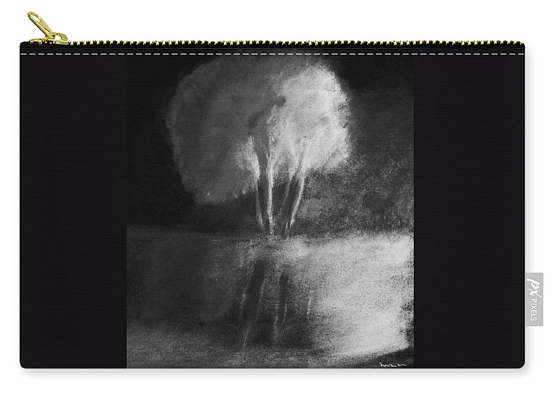 Tree Carry-all Pouch featuring the pastel Shadow Of A Tree by Melvin Moon