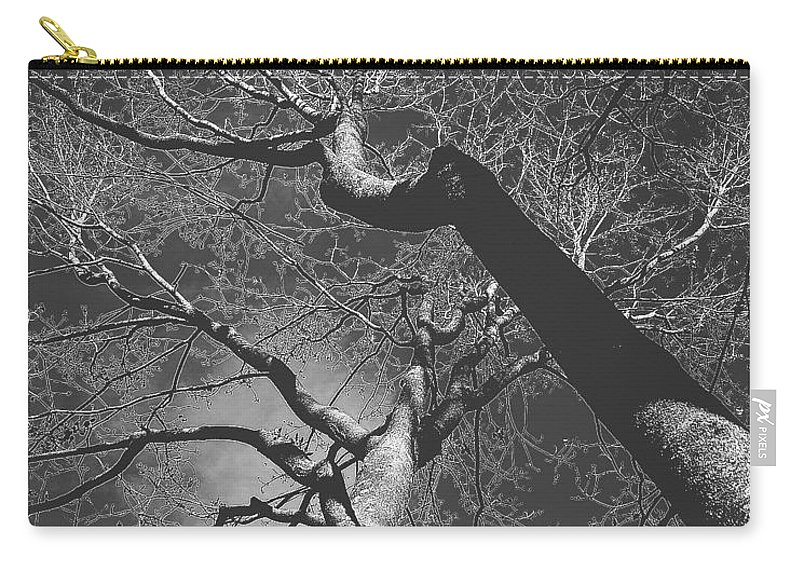 Black And White Carry-all Pouch featuring the photograph Shadow Of The Day by Heather Taylor