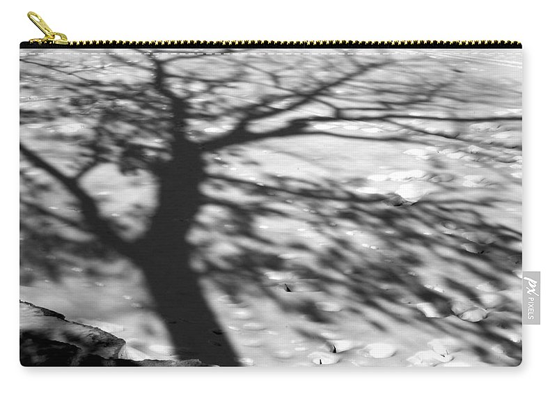 Shadow Carry-all Pouch featuring the photograph Shadow Tree Herrick Lake Naperville Illinois by Michael Bessler