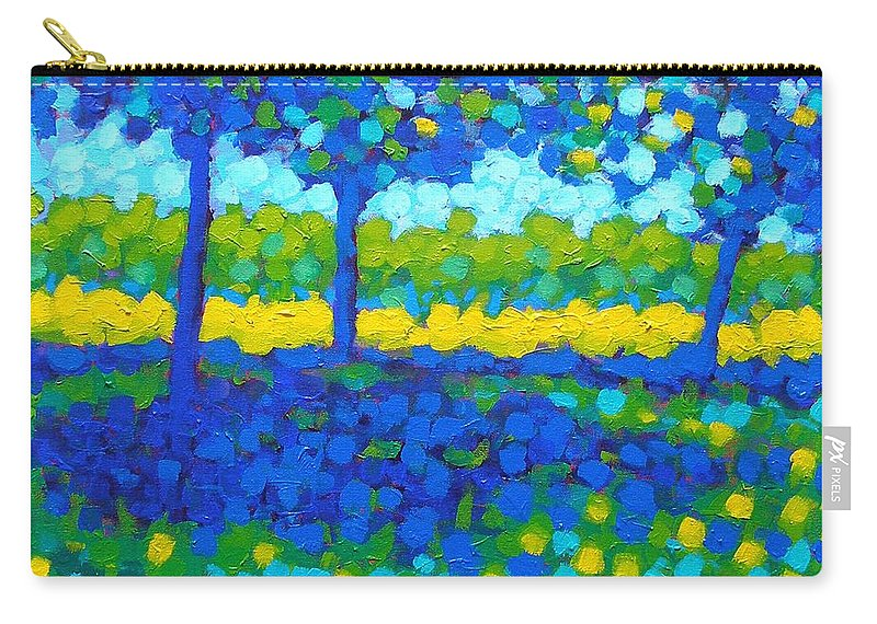 Irish Landscape Carry-all Pouch featuring the painting Shadow Trees by John Nolan