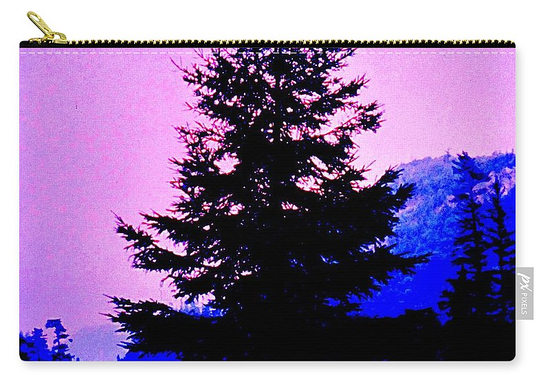 Agawa Carry-all Pouch featuring the photograph Shadows In The Canyon by Ian MacDonald