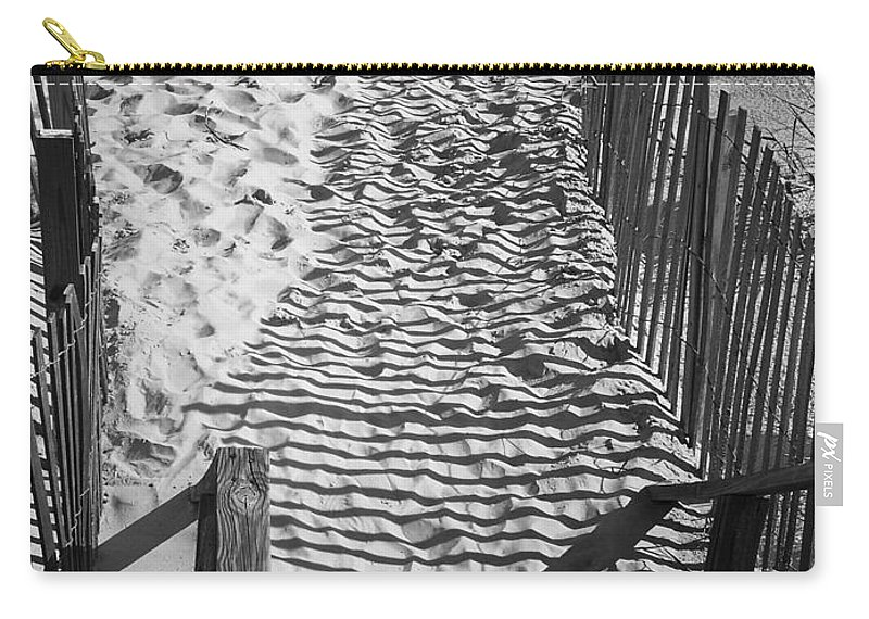 Shadow Carry-all Pouch featuring the photograph Shadows In The Sand by Teresa Mucha