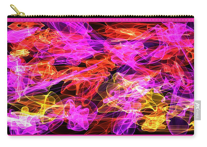 Swirls Carry-all Pouch featuring the digital art Shaken Not Stirred by Shirlena Rudder