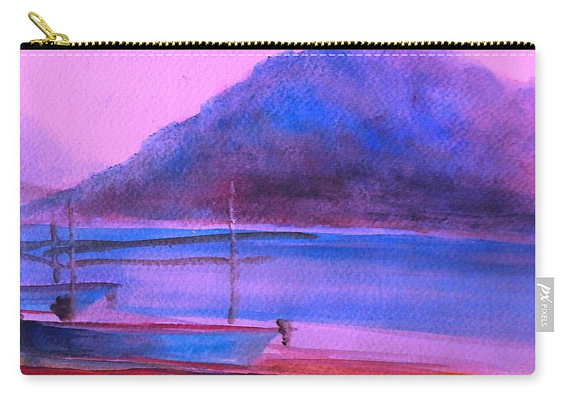 Landscape Carry-all Pouch featuring the painting Shallow 07 by Pusita Gibbs