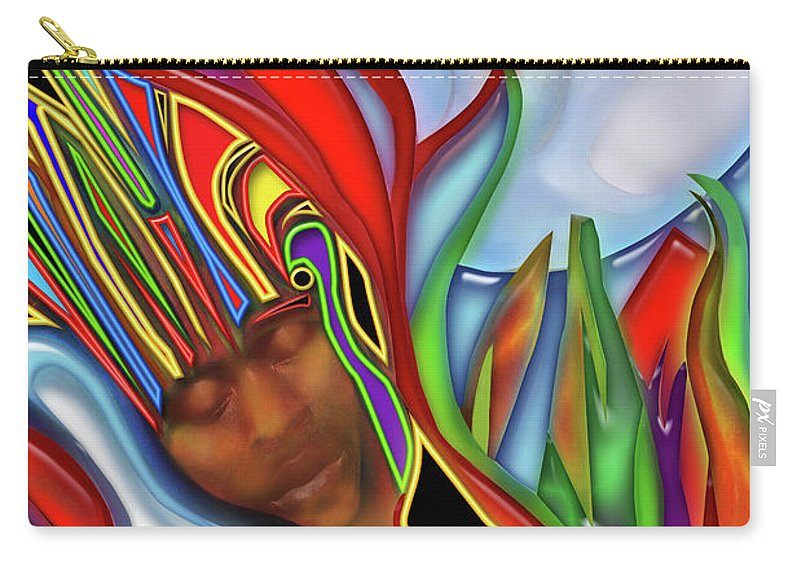 Shaman Carry-all Pouch featuring the digital art Shaman by Larry Rice