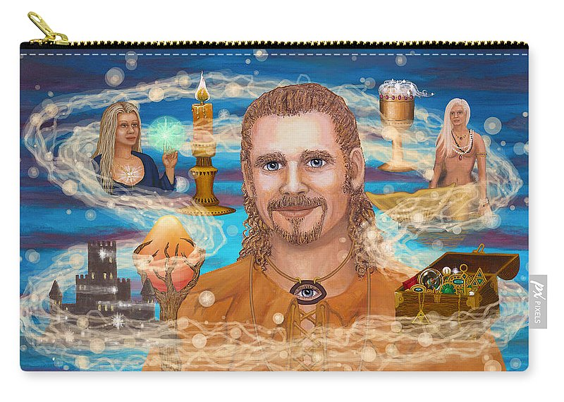 Magic Carry-all Pouch featuring the digital art Shaman Storey by Roz Eve