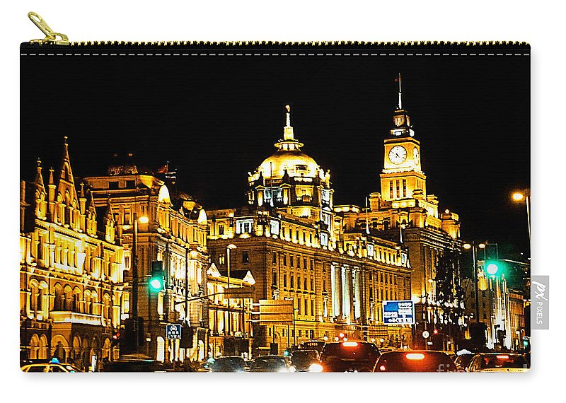 Shanghai Carry-all Pouch featuring the photograph Shanghai City 1 by Xueling Zou